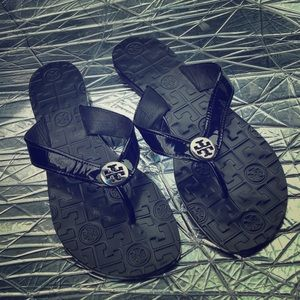 Tory Burch Leather Thong Flip Flip Sandals